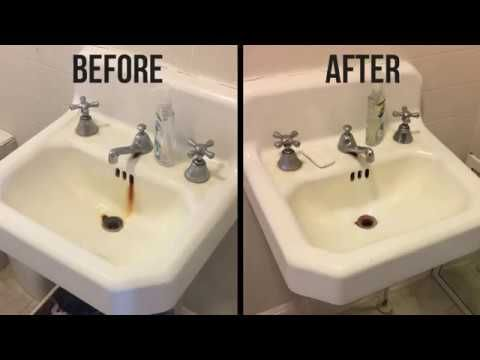 How To Remove Rust Stains From A Porcelain Tub Or Sink Remove