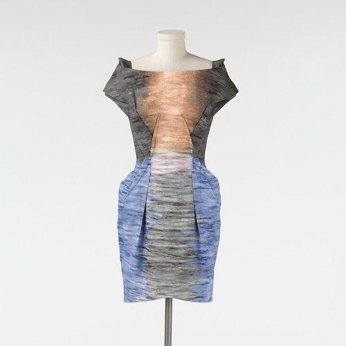 Kim Kardashian's Peter Pilotto Sunset Print Cotton Dress UK Size 6 on ebay! love.