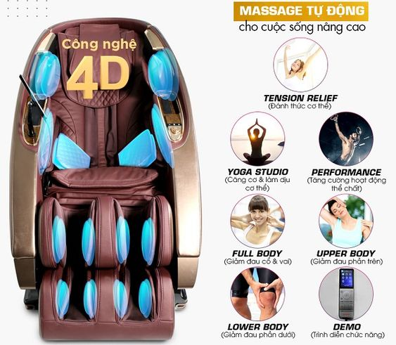 Kingsport G8 áp dụng công nghệ massage 4D mang đến 7 tác động