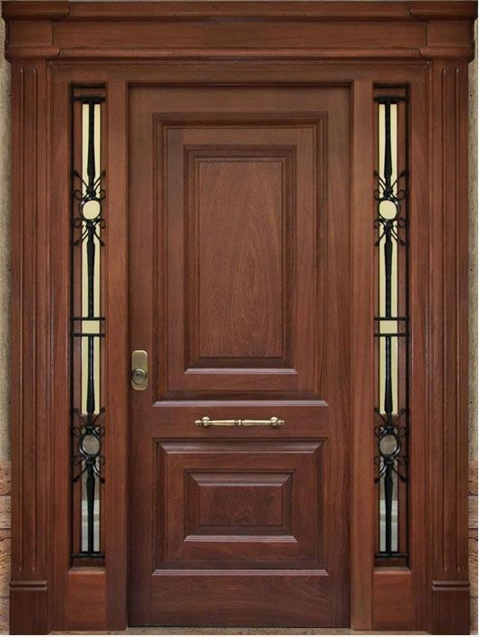 Catalogo de puertas de madera puertas cl set y cocinas for Puerta madera rustica