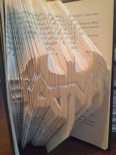 Book folding art. Batman.