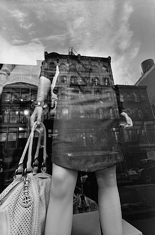 NYC. Reflections. Good synthesis between cityscape and everyday life // Lee Friedlander.