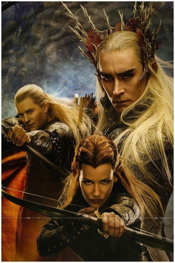 Thranduil, Legolas And Tauriel - The Hobbit - The ...