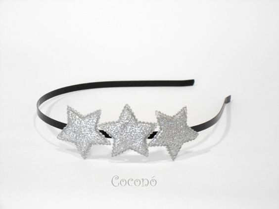SILVER Star Headband  Silver Star headpiece by CoconoMillinery