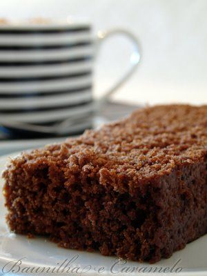 Baunilha e Caramelo: Bolo de Café e Chocolate