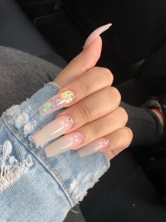 Awesome transparent nail art design