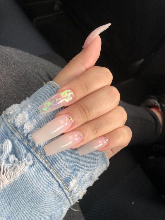 Beautiful Chic transparent Nail Art Designs ,clear nail art ,clear nails ,clear nail art design , nail ideas,Awesome transparent nail art design