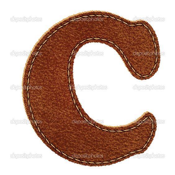 letra C em couro - Pesquisa Google