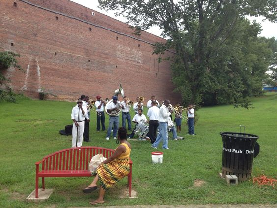 Spiritual Sound Brass Band perform at farmer's Market December 2013 and April 2014
