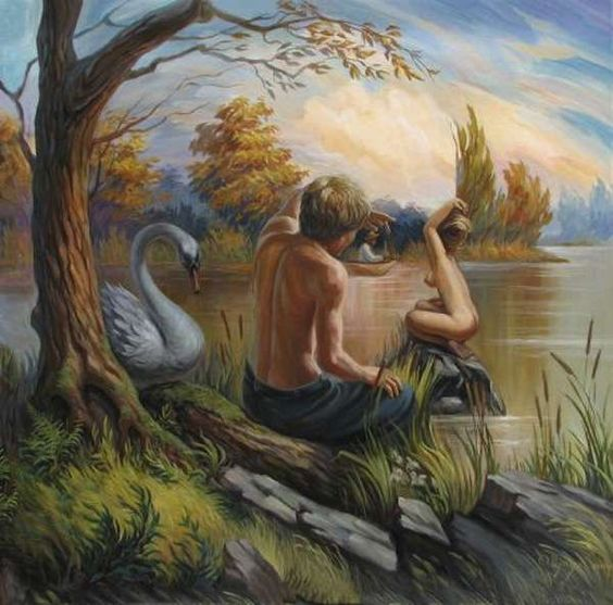 Dual-Perspective Paintings - The Optical Illusion Paintings by Shupliak Oleg are Incredibly Surreal (GALLERY)
