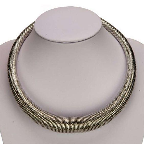 Statementkette Halskette Kette 43cm + 8cm Verschlussreserve, Collier versilbert & hochwertig verarbeitet