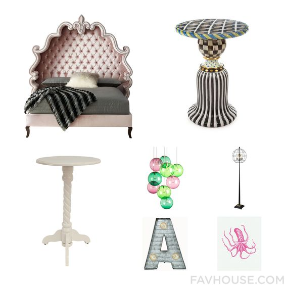 Home Tricks With Haute House Bed Mackenzie-Child J. Hunt Accent Table And Pink Lamp From January 2016 #home #decor
