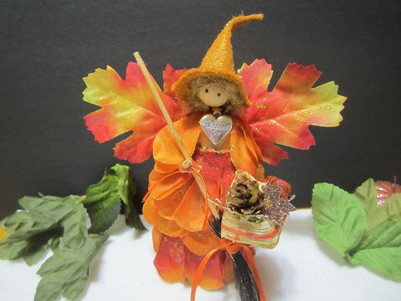 Fall Kitchen Witch, Altar Witch, Witchy Decor, Altar Decor, Autumn Decor, Fall Decor, Corn Doll Witch, Blessed Be Witch, Wiccan Decor