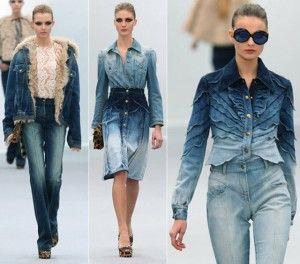 Tendência de Look All Jeans – Primavera Verão 2014 – Fotos