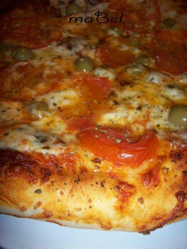 Masa de pizza de pizzería - Las recetas de Mabel Mendez