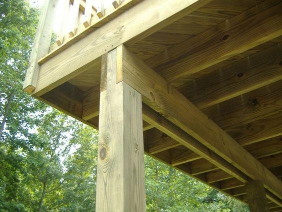 cantilever decks decks deck supports steel or wood. Black Bedroom Furniture Sets. Home Design Ideas