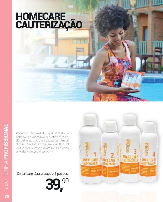 HOMECARE CAUTERIZAÇÃO Poderoso tratamento que hidrata o cabelo repondo toda a queratina perdida, dá brilho aos fios e suavi...