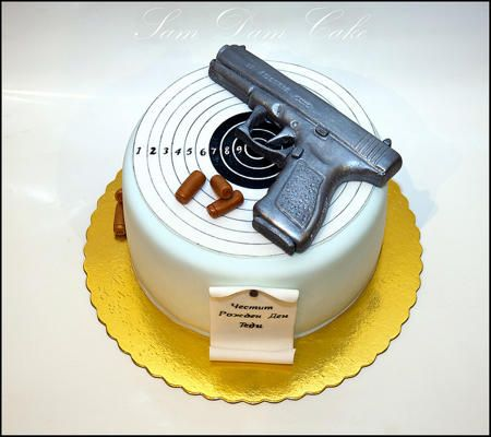 Gun Birthday Cake Idea Birthday I Love Guns
