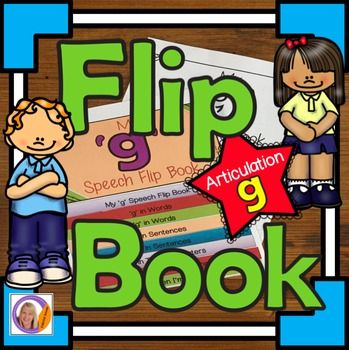 Articulation and learning 'g' is easy with this flip book.  This product contains 2 x 8 pages flip books: the pages are packed with pictures and activities and can be used to make a flip book that will learning speech sounds hands on and interactive.Version 1- is a black and white flip book.