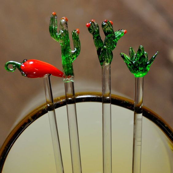Mexican Glass Stirrers