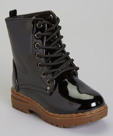 Loving this Black Glossy Boot on #zulily! #zulilyfinds