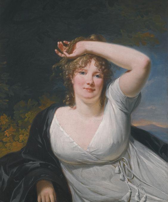 Henri-Pierre Danloux PORTRAIT OF A YOUNG LADY IN A WHITE DRESS Estimate 5,000 — 7,000 GBP: