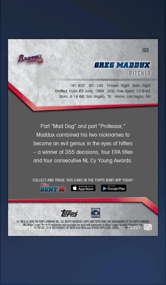 169 Greg Maddux B