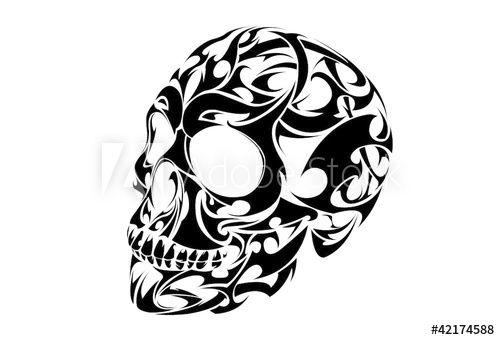 Tribal Skull Tattoo Vector Design Tribal Skull Skull Art Tattoo Tribal Art Tattoos