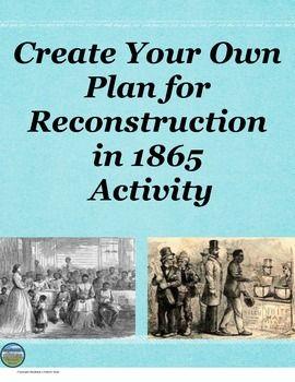 Reconstruction Plan- Post Civil war project?