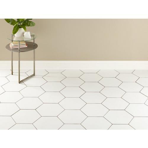 Opal White Hexagon Porcelain Tile White Hexagon Tiles Large Hexagon Floor Tile White Hexagon Tile Bathroom