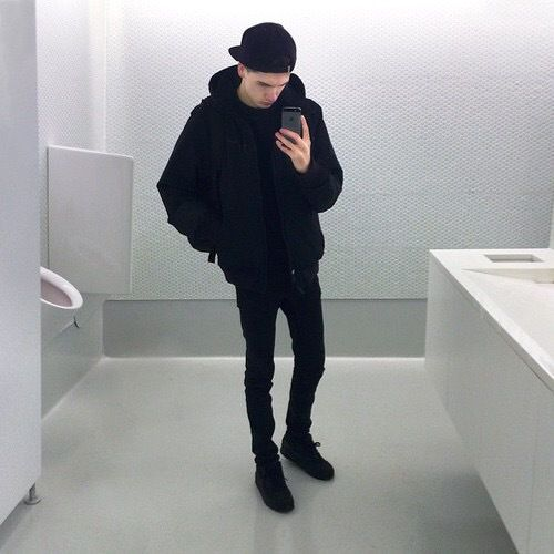All black outfit boy tumblr grunge aesthetic - Buscar con Google | u2022 Outfit u2022 | Pinterest | Boys ...