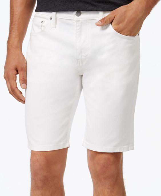 Levi's Men's 511 Hemmed White Denim Shorts