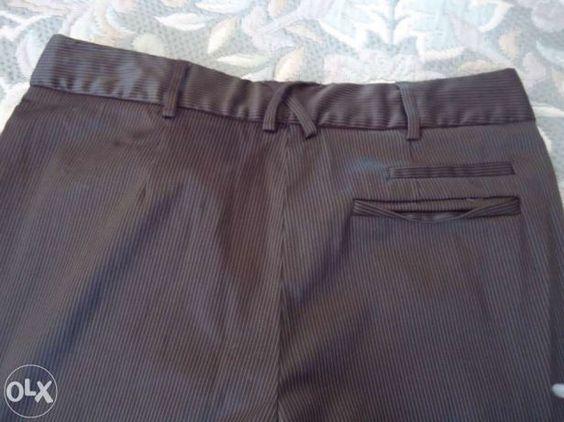 Calça de fato da Mango - Tamanho 38 . Castanhas Alhos Vedros - imagem 3