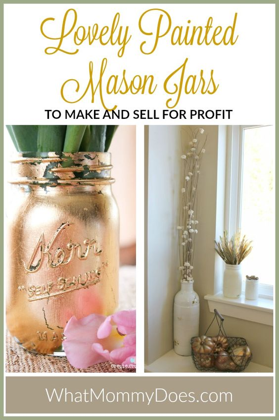 13 mason jar crafts to make sell for extra cash crafts for Craft ideas to sell from home