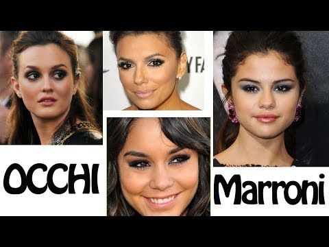 Make up tutorial smoky eyes celebrity occhi scuri - YouTube F A V O L O S O ! ! ! !