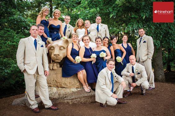 Roxy & Eric's Penn State wedding. Rhinehart Photography.