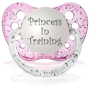 Amazon.com: Personalized Pacifiers Princess in Training Pacifier in Glitter Pink: Baby
