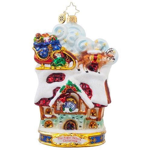 Christopher Radko Ornament Up to the House Top 1017969