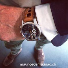 In my atelier, with my #mauricedemauriac swiss made watch http://mauricedemauriac.ch/