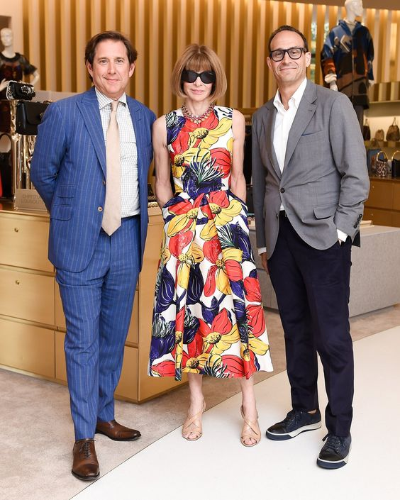 Richard Baker, Anna Wintour, and Marc Metrick at the Saks Fifth Avenue + Vogue New York Fashion Week Party.