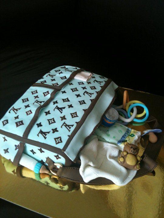 Pastel bolsa maternal... Me encanta...