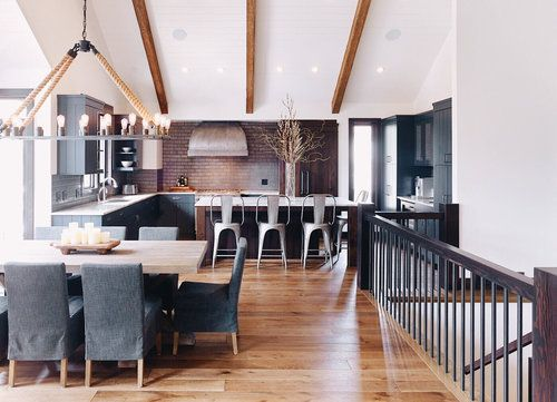 Project Reveal Country House Dining Room Modern Interior Design