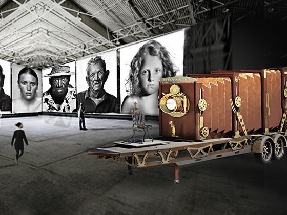 Dennis Manarchy, world-renowned photographer, has spent 10 years constructing by hand a prototype 35-foot long traditional FILM camera that produces 4.5-foot by 6-foot negatives with unbelievable visual detail. Support his Kickstarter project!