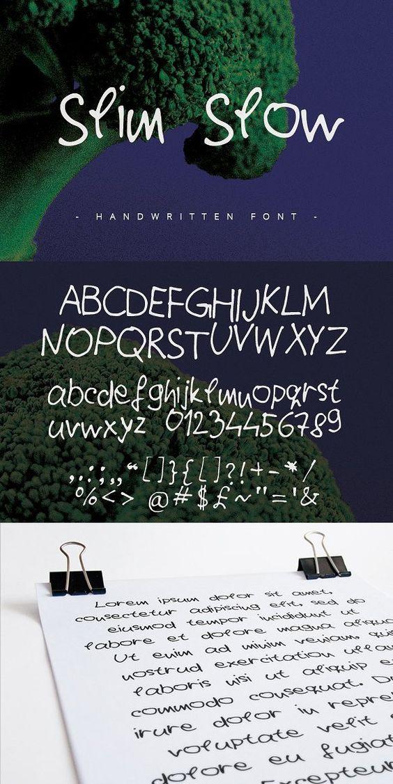Slim Slow - Handwritten Font -. Display Fonts. $10.00