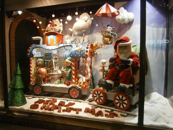Christmas window display: