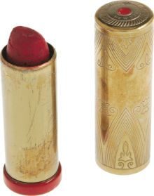 """""""Vibrant"""" red lipstick by Coty of New York, which was owned and used by Marilyn Monroe"""