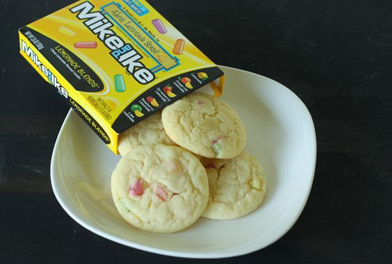 Mike and Ike Lemonade Candy Cookies