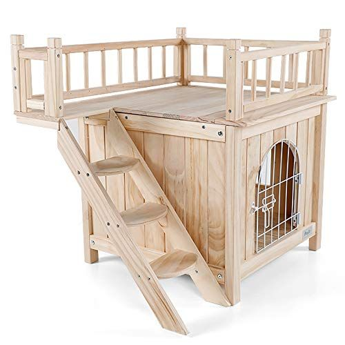 Petsfit Indoor Cat House Wooden And No Paint 1 Year Warranty Cat Houses Indoor Indoor Cat House In The Woods