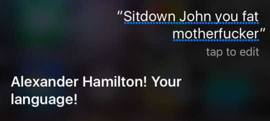 Siri is Hamilton Trash