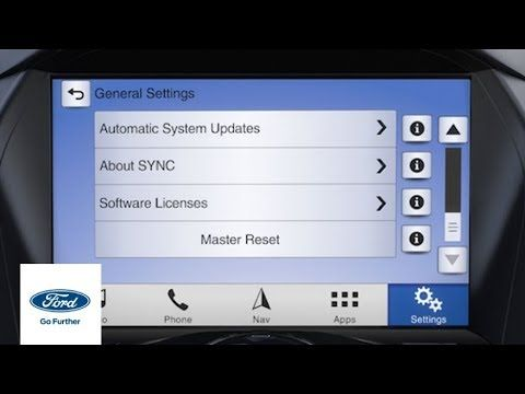 Sync 3 How To Perform A Master Reset Ford How To Ford Youtube In 2020 With Images Sync Master Ford